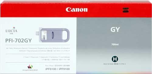 Canon PFI-702GY [2221B005] HC grey Tinte