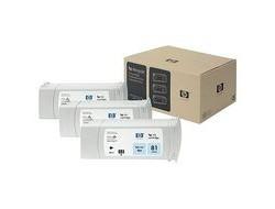 HP 81 [C5070A] 3er-Pack (3xC4934A) light-cyan Tinte