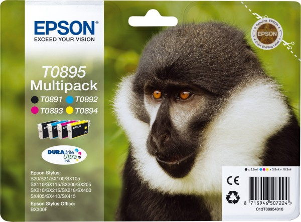 Epson T0895 [C13T08954010] MultiPack (T0892+T0893+T0894) cyan+magenta+yellow Tinte
