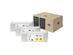 HP 81 [C5069A] 3er-Pack (3xC4933A) yellow Tinte