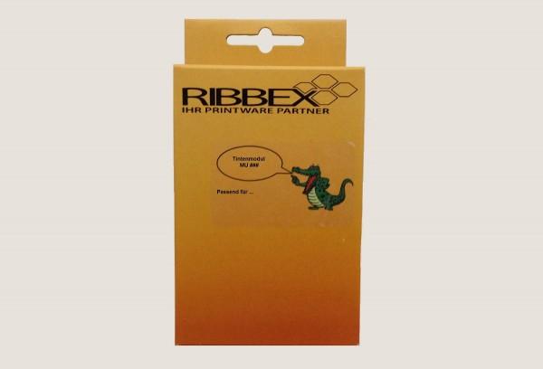 Ribbex Newbuilt zu Brother [w.LC-1280XLC] HC cyan (23) Tinte