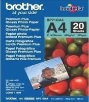 Papier Brother [BP71GA4] glänzend Foto-Papier weiss 260g/m² A4 20 Blatt