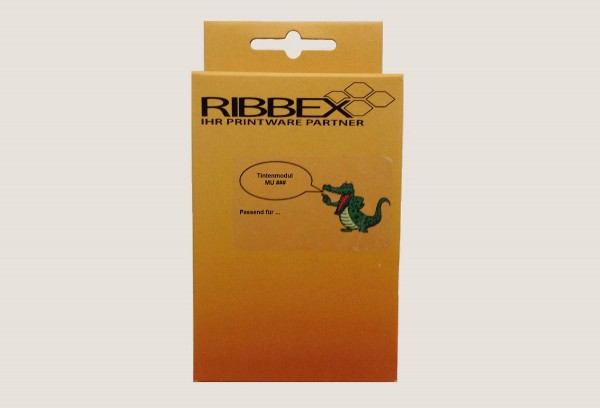 Ribbex Newbuilt zu Brother [w.LC-1280XLBK] HC black (23) Tinte