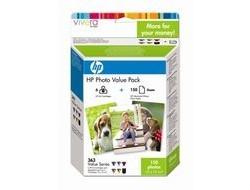 HP 363 [Q7966E] ValuePack (C8721E+C8771E+C8772E+C8773E+C8774E+C8775E) black+cyan+magenta+yellow+light-cyan+light-magenta Tinte + 150 Blatt 10x15cm Fotopapier