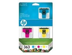 HP 363 [CB333E] MultiPack (C8771E+C8772E+C8773E) cyan+magenta+yellow Tinte