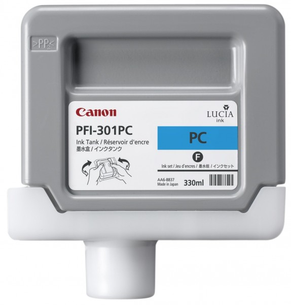 Canon PFI-301PC [1490B001] photo-cyan Tinte