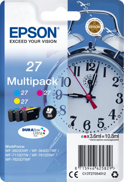 Epson 27 [C13T27054012] MultiPack (T2702+T2703+T2704) cyan+magenta+yellow Tinte