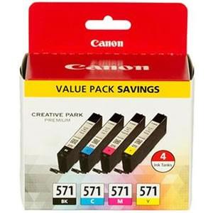 Canon CLI-571 [0386C004] MultiPack (0385C001+0386C001+0387C001+0388C001) black+cyan+magenta+yellow Tinte