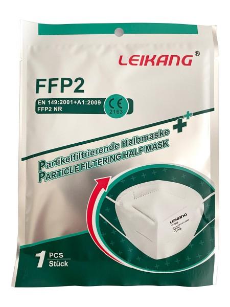 FFP2-Maske Leikang [MNSM-FFP2-CE2163] mit CE, einzeln foliert, 20er VE